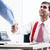 kıdemli · yürütme · el · sıkışmak · işadamı · ofis · gülen - stok fotoğraf © kzenon