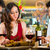 chinese couples toasting with wine in restaurant stock photo © kzenon