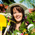 счастливым · женщину · садовник · рабочих · области · молодые - Сток-фото © kzenon