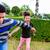 irmão · irmã · jogar · jardim · dois · preto - foto stock © kzenon