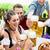 Männer · trinken · Bier · Brezeln · Veröffentlichung - stock foto © kzenon