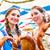 dois · feliz · meninas · cerveja · branco · mulher - foto stock © kzenon