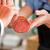 男 · 買い · 新鮮な · 肉 · 食品 · 幸せ - ストックフォト © kzenon