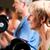 nő · emel · súlyzók · tornaterem · sportok · portré - stock fotó © kzenon