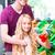 familie · kruidenier · winkelen · supermarkt · meisje · man - stockfoto © kzenon