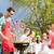 aile · barbekü · bahçe · odak · ızgara · gıda - stok fotoğraf © kzenon