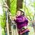 meisje · klimmen · avontuur · park · jong · meisje · zomer - stockfoto © kzenon