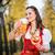 oktoberfest · nina · cerveza · galleta · salada · ilustración · sexy - foto stock © kzenon