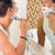 férfi · fürdőszoba · arc · otthon · fiú · bőr - stock fotó © kzenon
