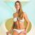 Wellness - young woman floating in Spa in bathtub stock photo © Kzenon