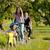 familia · aire · libre · ejecutando · suciedad · camino · familia · feliz - foto stock © kzenon