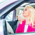 woman doing her makeup in car stock photo © kzenon