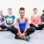 grup · meditasyon · meditasyon · insanlar · odak · el - stok fotoğraf © kzenon