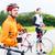 course · cyclistes · deux · ensemble · à · grande · vitesse · route - photo stock © kzenon