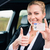 woman showing driving license and thumbs up stock photo © kzenon