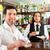 barista · ügyfél · kávézó · iszik · kávé · pincér - stock fotó © Kzenon