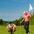 jonge · paar · spelen · golfbaan · vrouw - stockfoto © Kzenon