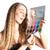 kadın · renkler · portre · genç · kadın · yalıtılmış · renk - stok fotoğraf © kzenon