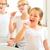 girls tooth brushing in the bath room stock photo © kzenon