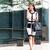 mulher · jovem · celular · caminhada · negócio · edifício · telefone · móvel - foto stock © kzenon
