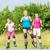 family rollerblade with skates on country lane stock photo © kzenon