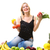 healthy nutrition   woman with vegetables stock photo © kzenon