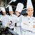 férfi · dolgozik · szakács · ázsiai · étterem · konyha - stock fotó © kzenon