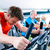 sport in the gym   people spinning of fitness bikes stock photo © kzenon