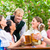amigos · potable · cerveza · oktoberfest · junto · traje - foto stock © kzenon
