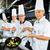 ázsiai · séfek · étterem · konyha · főzés · étel - stock fotó © kzenon