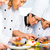 asian chefs in restaurant kitchen cooking stock photo © kzenon