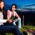 alpes · casal · fogueira · montanhas · sessão - foto stock © kzenon