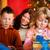 Noel · aile · hediyeler · noel · mutlu · aile · ebeveyn - stok fotoğraf © Kzenon