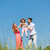 Family of mother, father and child on meadow stock photo © Kzenon