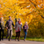 família · andar · colorido · árvores · outono · jovem - foto stock © kzenon