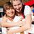 couple in tracht on dult or oktoberfest stock photo © kzenon
