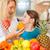 mujer · sesión · cocina · frutas · alimentos · manzana - foto stock © kzenon