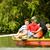 adam · kadın · kürek · çekme · tekne · göl · sevmek - stok fotoğraf © kzenon