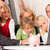 family with consultant   finance and insurance stock photo © kzenon