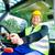 builder driving construction machinery stock photo © kzenon