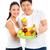 Chinese Asian couple eating healthy fruits  stock photo © Kzenon