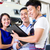 car mechanic and asian customer couple stock photo © kzenon