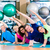 gymnastic group in gym exercising and training stock photo © kzenon
