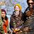 grupo · feliz · amigos · brincadeira · churrasco - foto stock © kzenon