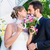 свадьба · пару · поцелуй · другой · сидят · каменные - Сток-фото © kzenon