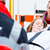 ambulance helping injured woman on stretcher stock photo © kzenon