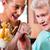 бабушки · еды · мороженым · старший · женщину - Сток-фото © kzenon