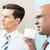 twee · zakenlieden · discussie · kantoor · papier · laptop - stockfoto © kzenon