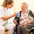 fiatal · nővér · női · idős · öregek · otthona · öreg · hölgy - stock fotó © kzenon