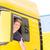 vrachtwagen · bestuurder · cap · logistiek · trots · man - stockfoto © Kzenon